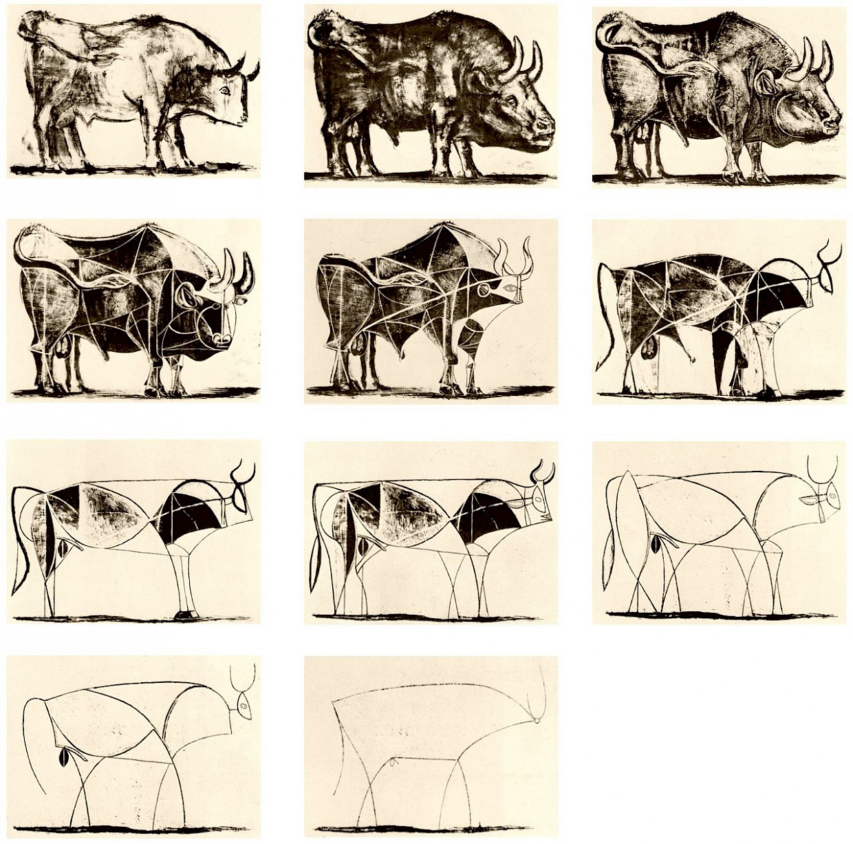 Pablo Picasso, Lithographs from The Bull, 1945-1946