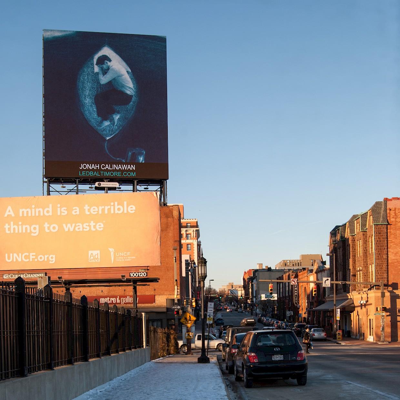 Sleep featured in a Baltimore Billboard