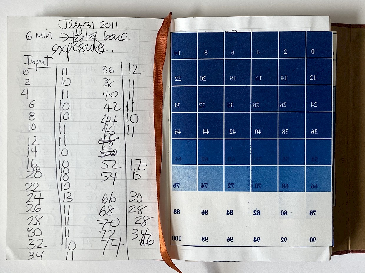 manually tracking values for cyanotype digital negative