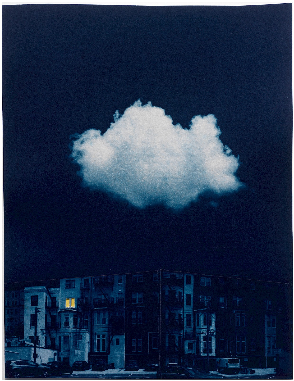 surreal cloud over row houses metaphor isolation pandemic meaning spirituality
